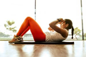Woman exercising - cardiovascular health